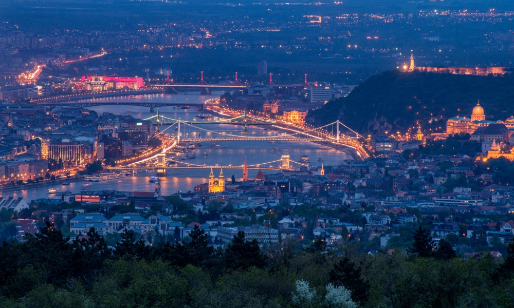 Panoramic view over the city of Budapest, Hungary