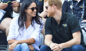 Prince Harry watches the Wheel Chair tennis as part of the Invictus games in Toronto  Featuring: Prince Harry, Meghan Markle Where: Toronto, Canada When: 25 Sep 2017 Credit: Euan Cherry/WENN.com