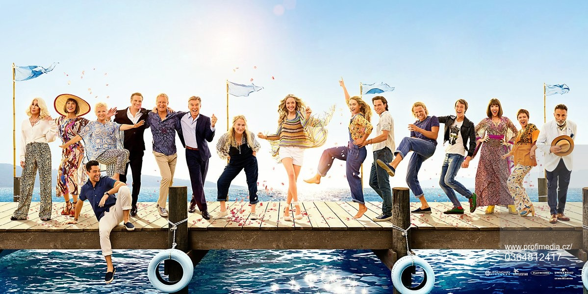 Meryl Streep, Pierce Brosnan, Colin Firth, Stellan Skarsgard, Lily James, Christine Baranski and Julie Walters