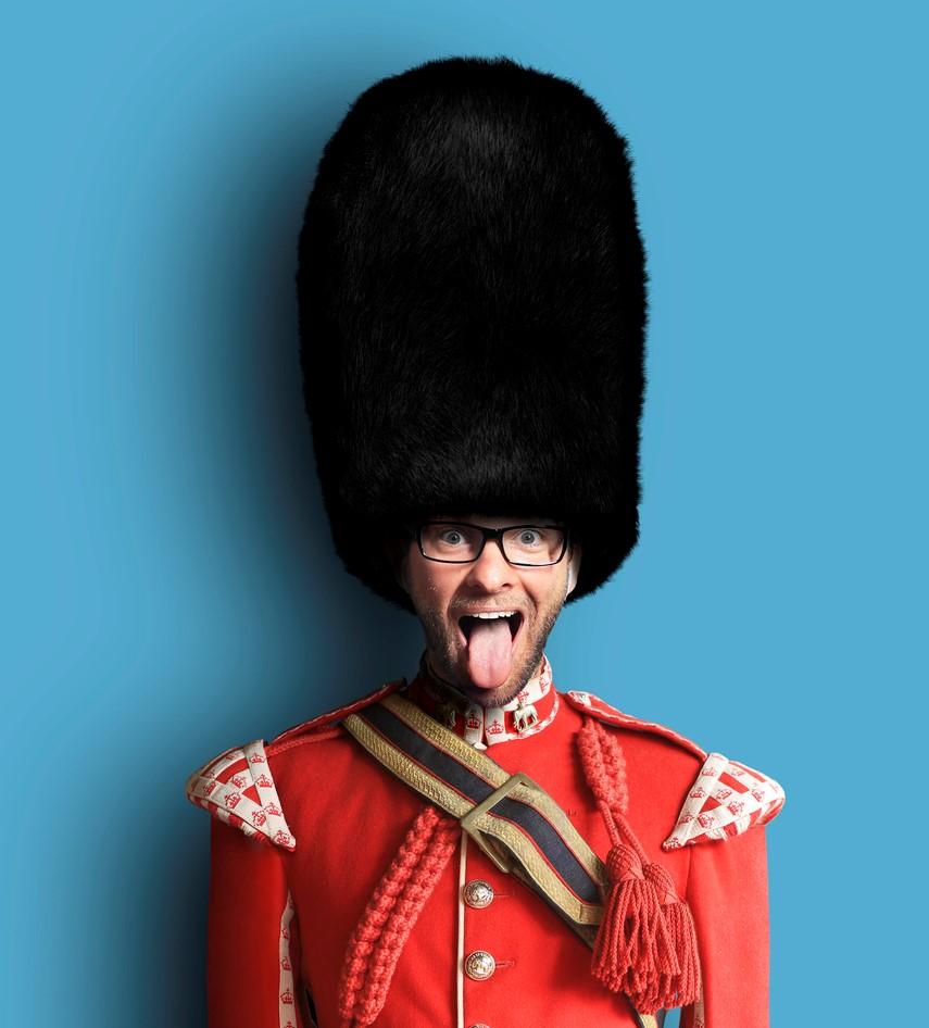 Young man in the costume of the Royal guards